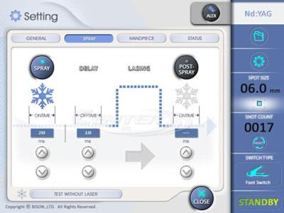 BISON Single Accento hosszú impulzusú Alexandrit lézer Cooling-system